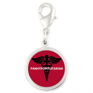 Panhypopituitarism Silver Round Charm
