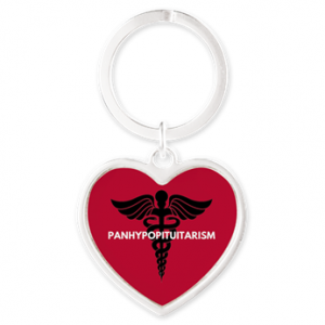 Panhypopituitarism Heart Keychain